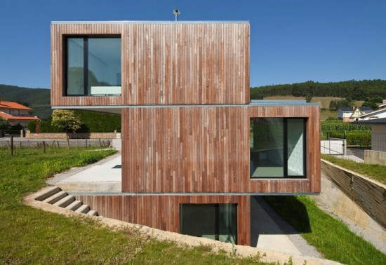 Curiosa casa de madera prefabricada en cantabria - Maderas cantabria ...